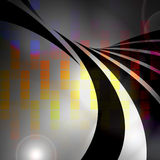 Colorful Audio Waveform. An abstract graphic equalizer design with swoosh lines Stock Images