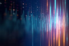 Audio waveform abstract technology background Stock Photography