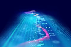 Audio waveform abstract technology background. Colorful Audio waveform abstract technology background ,represent digital equalizer technology Stock Photos