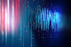 Audio waveform abstract technology background. Colorful Audio waveform abstract technology background ,represent digital equalizer technology Royalty Free Stock Photography