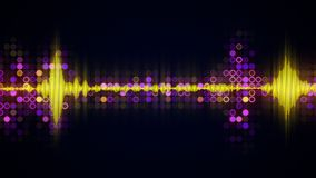Colorful audio waveform equalizer abstract techno background Royalty Free Stock Images