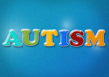Colorful Autism Theme Stock Images