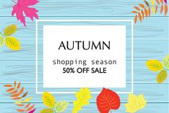 Colorful autumn banners for sale. Beautiful colorful autumn banners for sale Royalty Free Stock Image