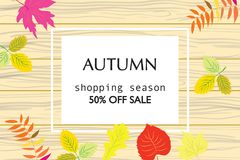 Colorful autumn banners for sale. Beautiful colorful autumn banners for sale Stock Images