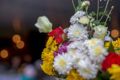 Colorful autumn bouquet closeup. Colorful autumn wedding bouquet closeup On blurred background Stock Photos