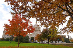 Colorful autumn on the Capitol Hill Stock Photos