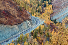 Colorful autumn of China Xinjiang Royalty Free Stock Images