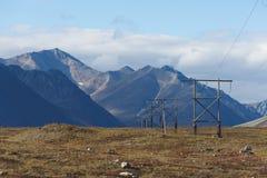 Colorful autumn Chukotka tundra, Arctic Circle Royalty Free Stock Photos