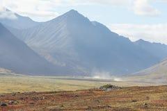 Colorful autumn Chukotka tundra, Arctic Circle Royalty Free Stock Image