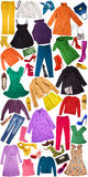 Colorful autumn clothing background Royalty Free Stock Image
