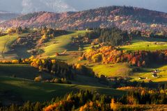 Colorful autumn country Royalty Free Stock Photography