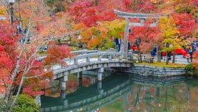 Colorful Autumn at Eikando Zenrinji Temple in Kyoto Stock Image