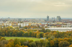 Colorful autumn evening, over Munich, Bavaria, Germany Stock Photography