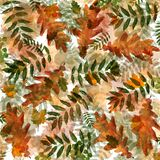 Colorful autumn foliage in chaotic order on an abstract background vector illustration