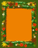 Colorful autumn frame Stock Image