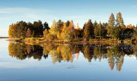 Colorful Autumn Lake Royalty Free Stock Photos