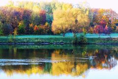 Free Colorful Autumn Landscape Royalty Free Stock Photos - 128624418