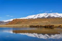 Lake mountains azure sky reflection autumn Royalty Free Stock Photo