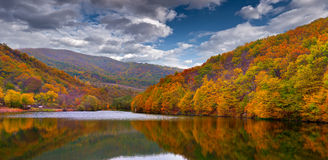 Colorful autumn landscape in the mountains Royalty Free Stock Photo