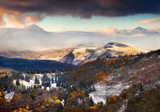 Colorful autumn landscape in the mountains Royalty Free Stock Images