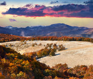 Colorful autumn landscape in the mountains Royalty Free Stock Photography