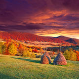 Colorful autumn landscape in mountains Royalty Free Stock Photos