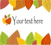 Colorful autumn leaf frame vector illustration