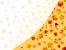 Colorful autumn leaves card. EPS 8 Stock Photography