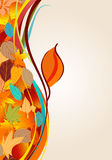 Colorful autumn leaves illustration Stock Image