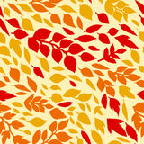 Colorful autumn leaves, red orange, yellow, seamless pattern, vector Royalty Free Stock Photo