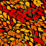 Colorful autumn leaves, red orange, yellow, seamless pattern, vector Stock Photo