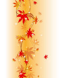 Colorful autumn leaves seamless pattern Stock Images