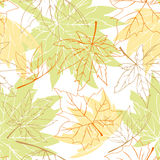 Colorful autumn leaves seamless pattern stock photography