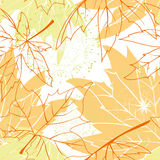 Colorful autumn leaves seamless pattern stock image