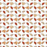 Colorful autumn leaves seamless pattern. Stock Photos