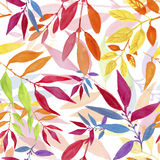 Colorful autumn leaves seamless pattern. Royalty Free Stock Image