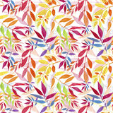 Colorful autumn leaves seamless pattern. Royalty Free Stock Images