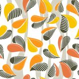 Colorful autumn leaves seamless pattern on light Royalty Free Stock Images