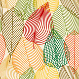 Colorful autumn leaves seamless pattern Stock Photos