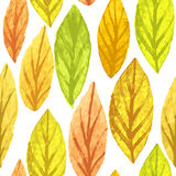 Colorful autumn leaves seamless pattern. Watercolor painting texture. Vector illustration. EPS10 royalty free illustration