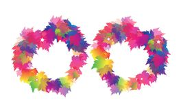 Two Beautiful Heart From Colorful Maple Leaves Royalty Free Stock Images