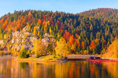 Colorful autumn mountain landscape with reflection in the water Stock Photography