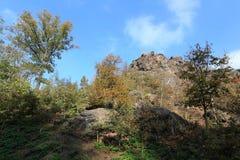 Colorful autumn Nature near Prague, Czech Republic Stock Image