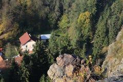 Colorful autumn Nature near Prague, Czech Republic Stock Images