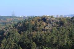 Colorful autumn Nature near Prague, Czech Republic Royalty Free Stock Image
