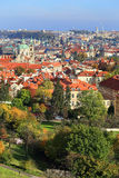 Colorful autumn Prague City with its Towers Royalty Free Stock Photo
