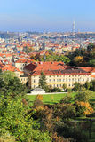 Colorful autumn Prague City with its Towers Royalty Free Stock Image