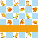 Colorful autumn rain seamless pattern Royalty Free Stock Images