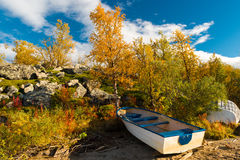 Colorful Autumn in Scandinavia Stock Photos