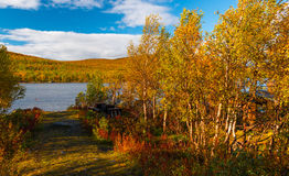 Colorful Autumn in Scandinavia Royalty Free Stock Photography